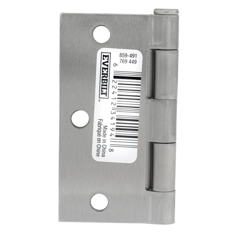 3 1/2-inch Satin Nickel Door Hinge