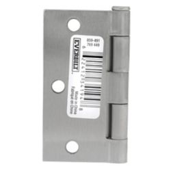 Everbilt 3 1/2-inch Satin Nickel Door Hinge