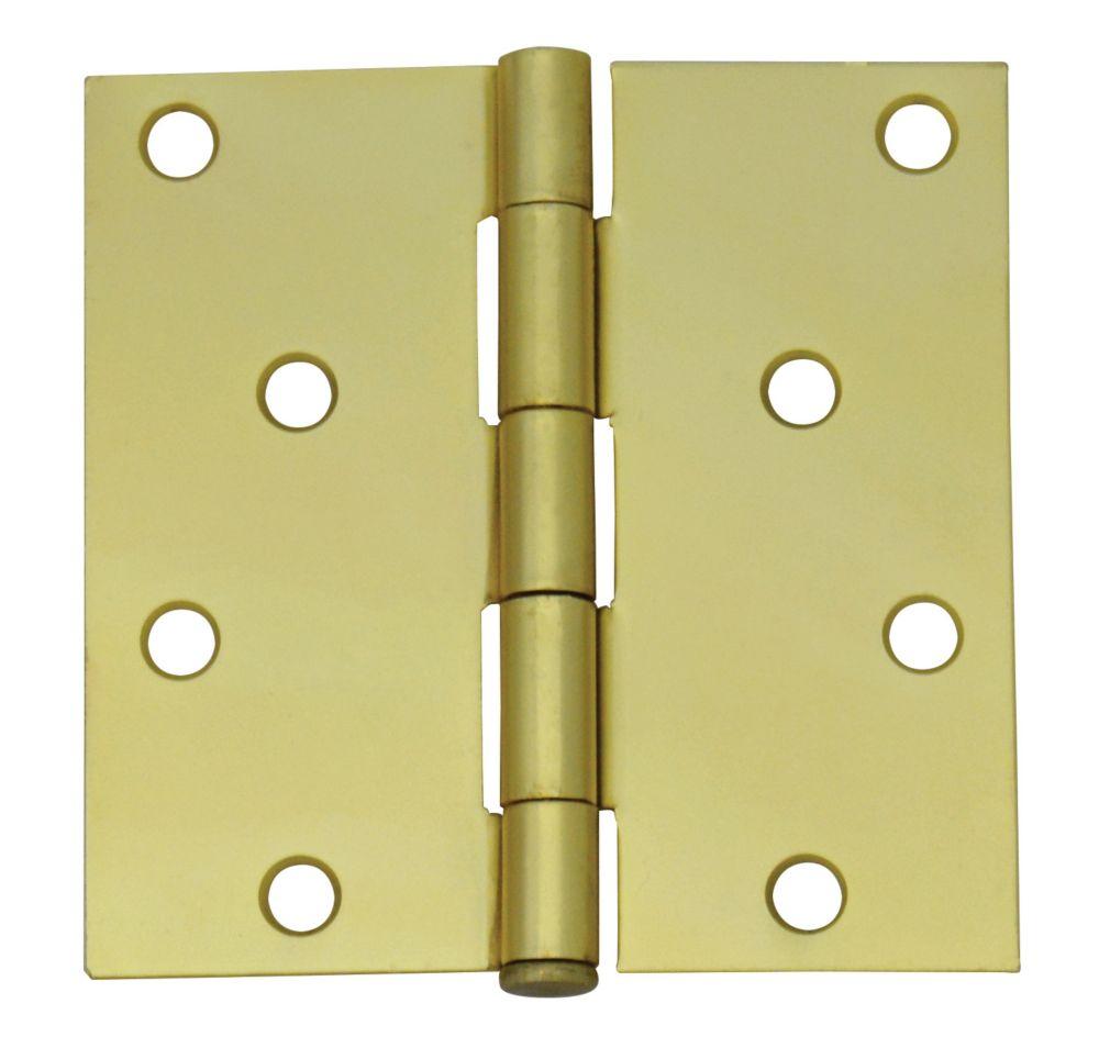 4-inch Satin Brass Door Hinge
