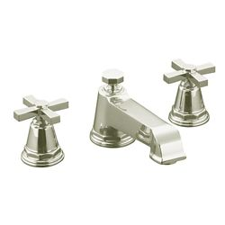 KOHLER Pinstripe(R) Pure deck-mount bath faucet trim for high-flow valve with cross handles