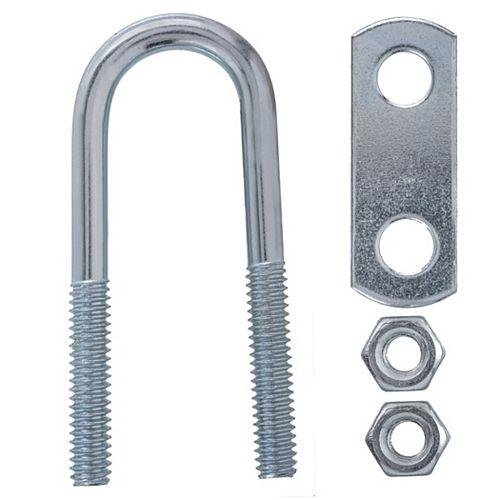 Everbilt 1/4 Inch X3/4 Inch X2-1/2 Inch  Zinc U Bolt
