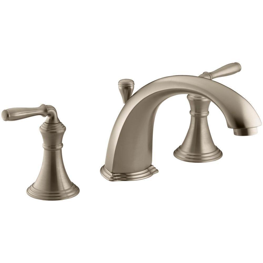 KOHLER Devonshire Deck-Mount Bath Faucet with Lever Handles