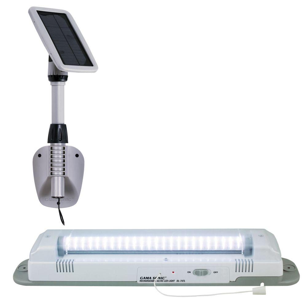 Gama Sonic 24 po blanc 3 Light Shed solaire avec 48 ampoules LED
