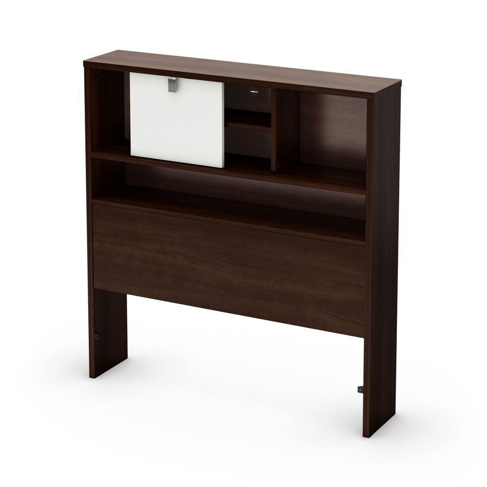 south shore t te de lit biblioth que simple cookie moka et blanc home depot canada. Black Bedroom Furniture Sets. Home Design Ideas