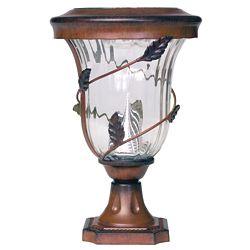 Flora 13 in. Post Mount Antique Bronze 6 LEDs Solar Lamp