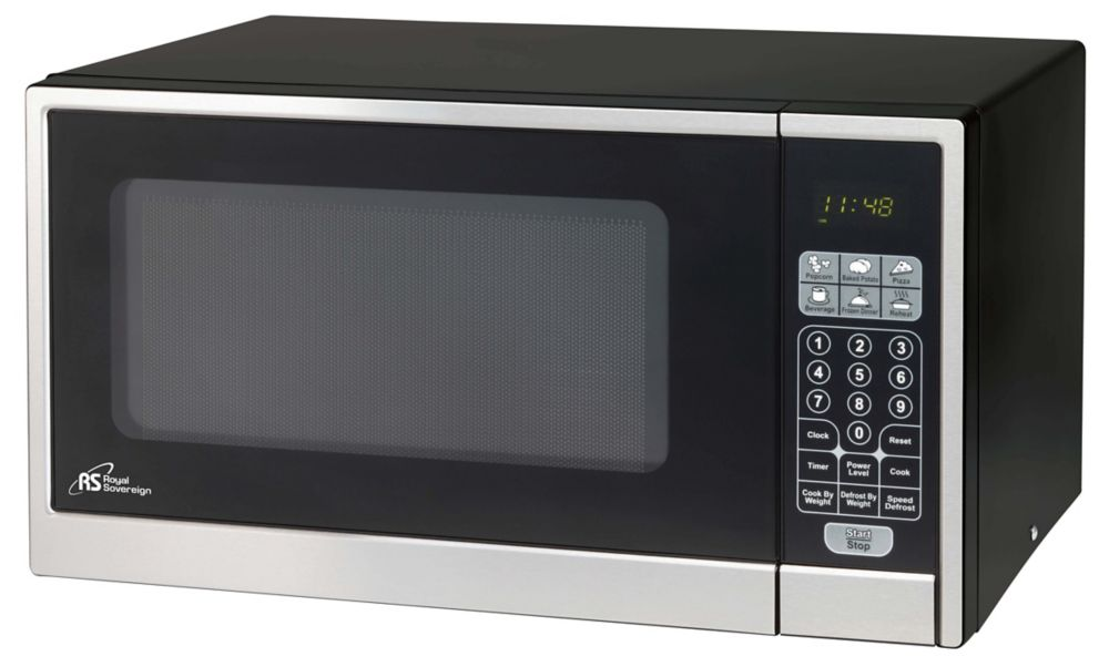 Sovereign 1.1 cu. ft. Countertop Microwave in Black with Stainless ...