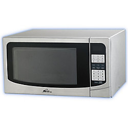 Royal Sovereign 1.34 cu. ft. Countertop Microwave in Silver with Stainless Steel Door
