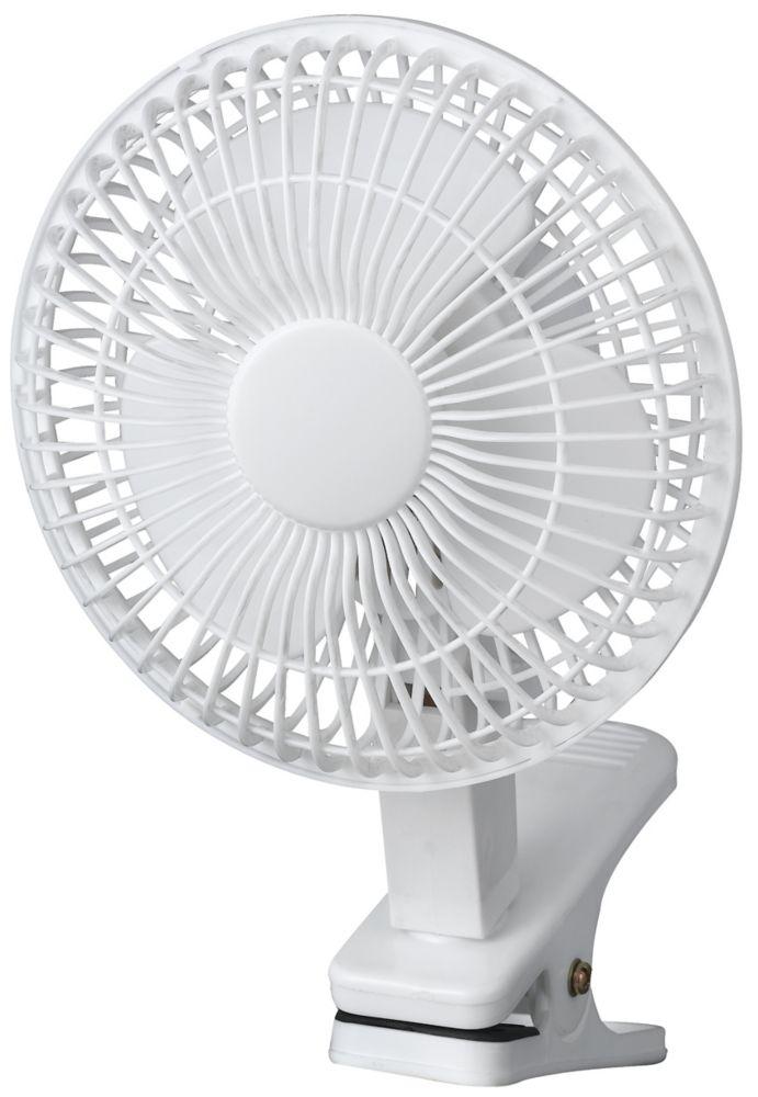 6 Inch Clip on Fan - White