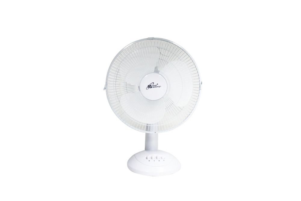 12 Inch Desk Fan - White