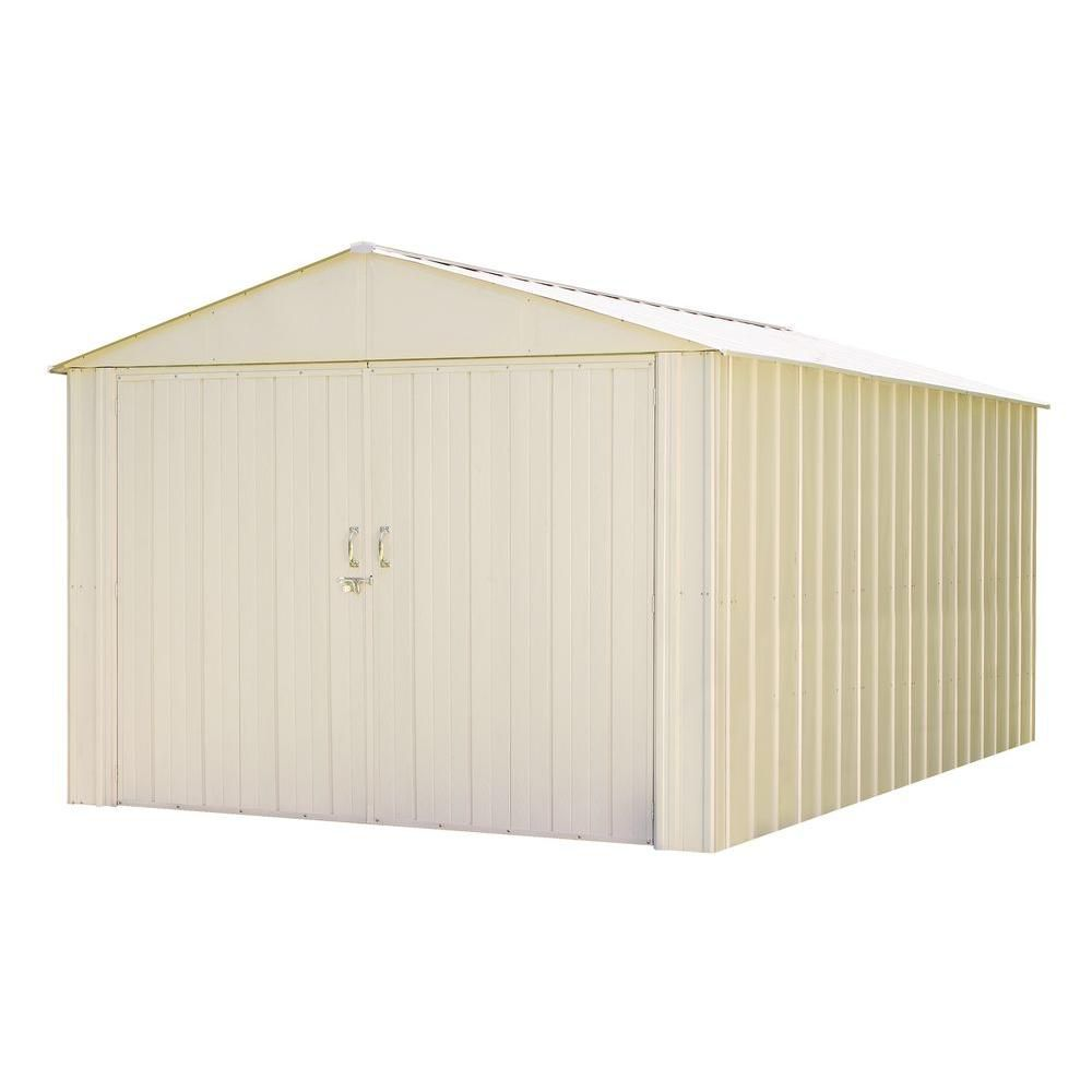 Suncast 34 Cu Ft Horizontal Storage Shed The Home