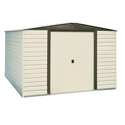 Arrow 10 ft. x 12 ft. Vinyl Dallas Vinyl Coated Metal Shed