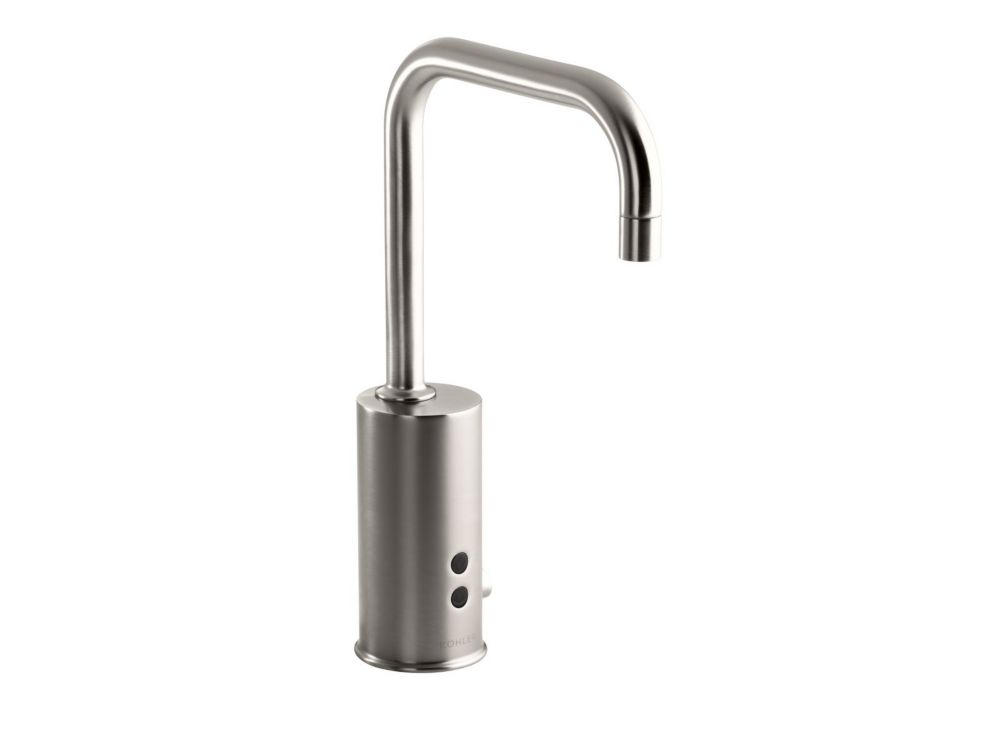 KOHLER Gooseneck single-hole Touchless(TM) DC-powered commercial faucet with Insight(TM) technology and temperature mixer