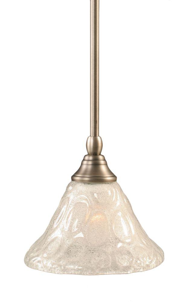Concord plafond à 1 Lumière brossé Nickel Pendeloque à incandescence avec un verre cristal