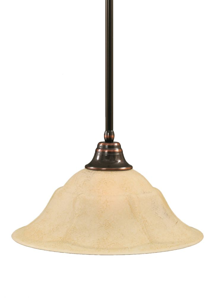 Filament Design Concord 1-Light Ceiling Black Copper Pendant with an Italian Marble Glass