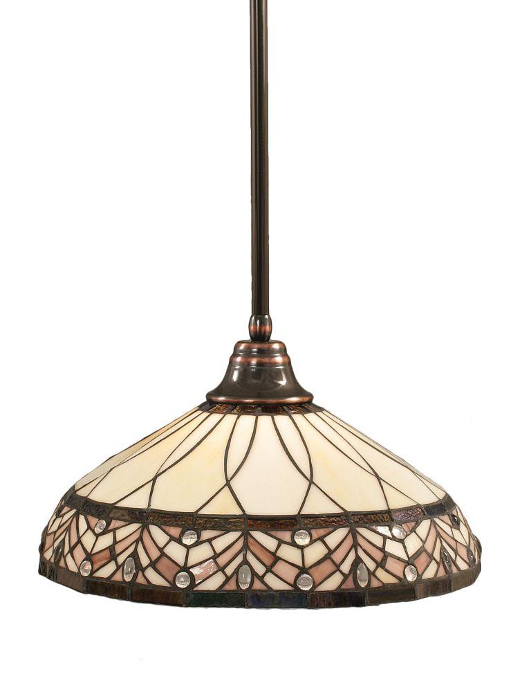 Concord 1 lumière au plafond Noir Copper Pendeloque incandescence par une royale Merlot Le verre ...