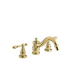 KOHLER Robinet de bain à montage sur gorge IV Georges Brass avec poignées à levier