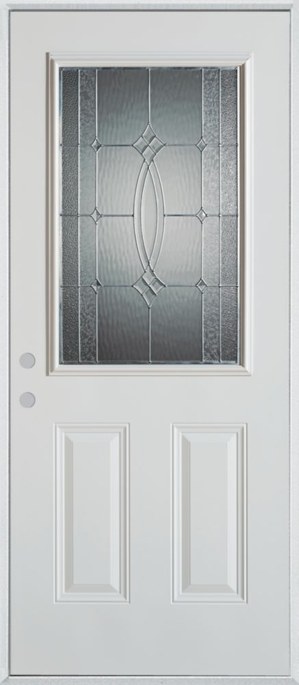 Stanley Doors Half Lite 2 Panel Painted Steel Entry Door The Home Depot Canada