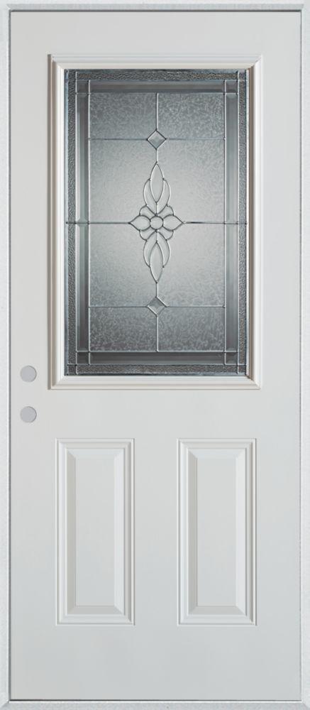 Stanley doors 36 inch x 80 inch victoria 1 2 lite 2 panel for Home depot exterior doors canada