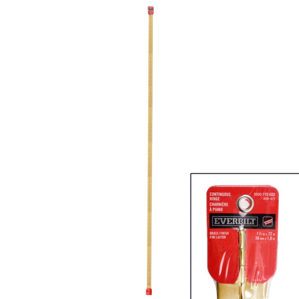 Everbilt 72 Inch X1-1/2 Inch  Brass Cont Hinge