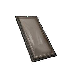 Puits de lumière 4pi x 4pi Fixe, monté sur cadre double vitrage bronze dôme acrylique avec cadre brun