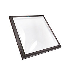4 ft. x 4 ft. Fixed Curb Mount Double Glazed Clear Acrylic Dome Skylight