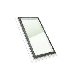 Columbia Skylights Puits de Lumière 2pi x 4pi Fixe, Solin Intégré verre transparent LoE3 trempée avec cadre gris