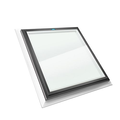 Columbia Skylights 2ft x 2ft Fixed Self Flashing LoE3 Double Glazed Clear Glass Skylight with Grey Frame