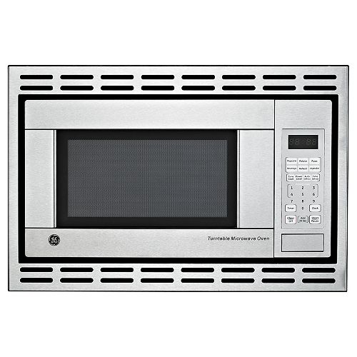 Ge 1 1 Cu Ft Countertop Microwave Oven In Stainless Steel The