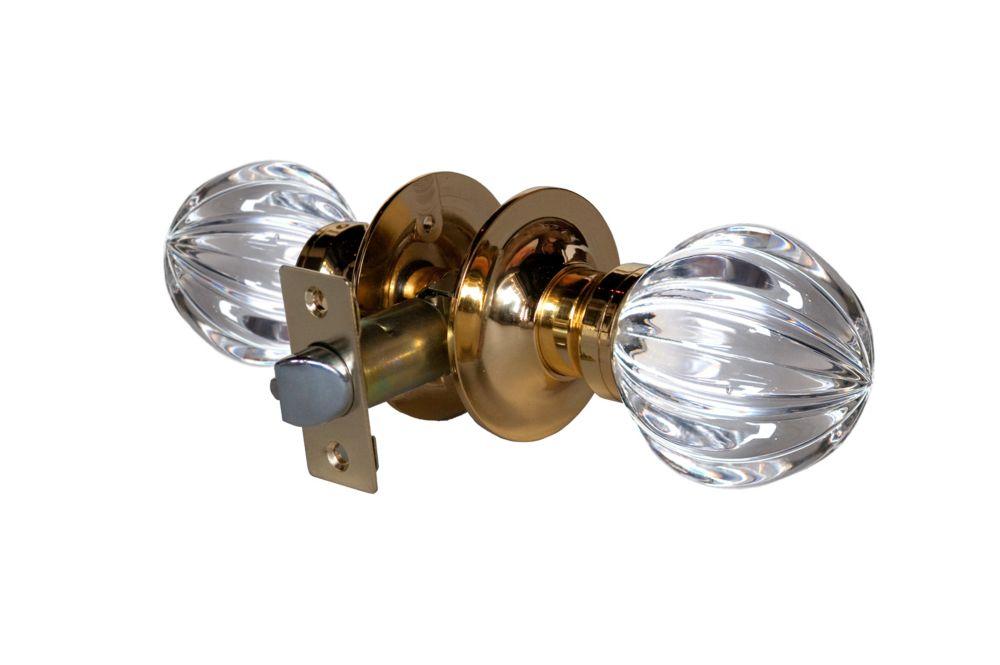 Wave Brass Passive LED Door Knob