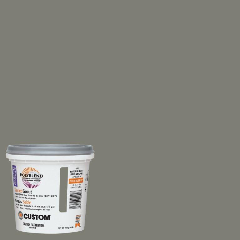 Custom Building Products #09 Natural Gray Sanded Grout 1 Lb.