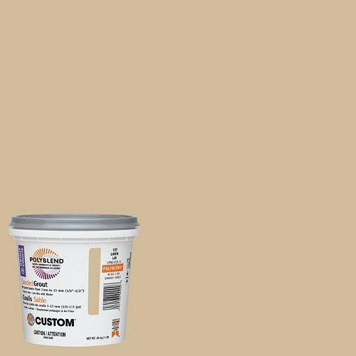 Custom Building Products #122 Linen Sanded Grout 1 Lb.