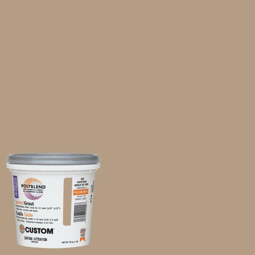 #380 Haystack Sanded Grout 1 Lb. CPBG3801-4 Canada Discount