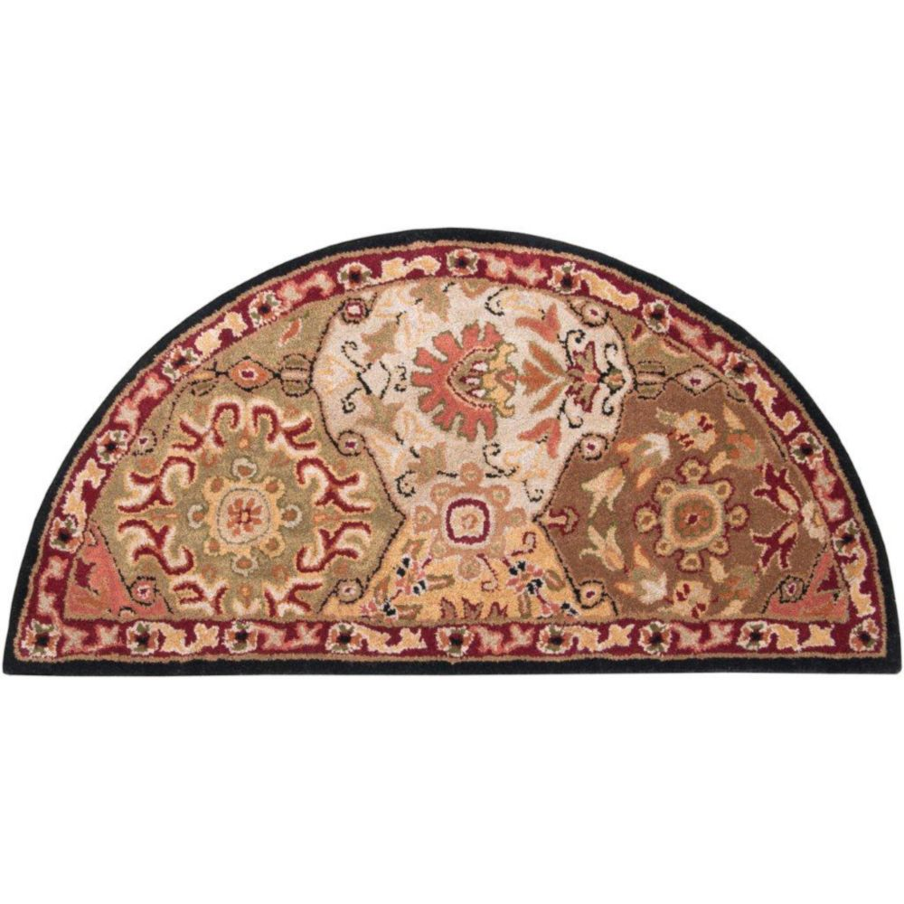 Artistic Weavers Abbaretz Red Wool Hearth Accent Rug 2 Ft X 4 Ft Area Rug The Home Depot