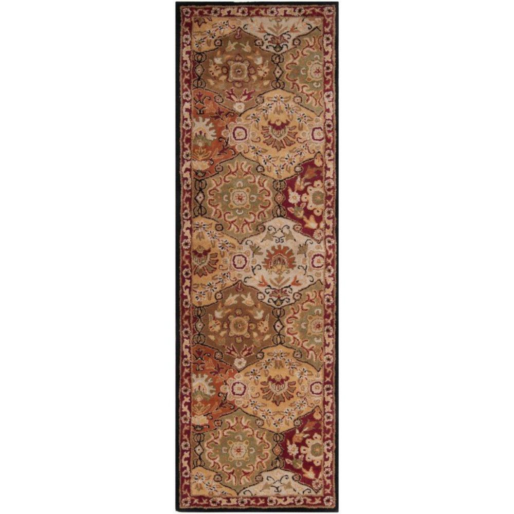 Abbaretz Red Wool Runner - 2 Ft. 6 In. x 8 Ft. Area Rug