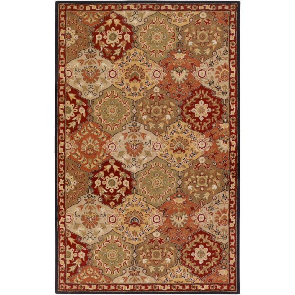 Artistic Weavers Abbaretz Red 5 ft. x 8 ft. Indoor Traditional Rectangular Area Rug