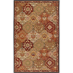 Artistic Weavers Abbaretz Red 6 ft. x 9 ft. Indoor Traditional Rectangular Area Rug