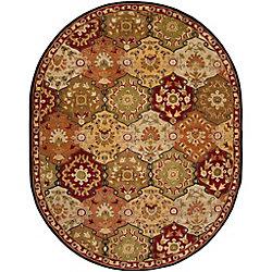 Artistic Weavers Carpette d'intérieur, 8 pi x 10 pi, style traditionnel, ovale, rouge Abbaretz