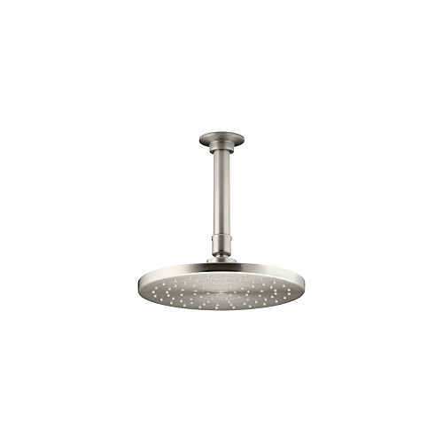KOHLER 1-spray Single Function 8-inch Contemporary Round Rain Showerhead in Brushed Nickel