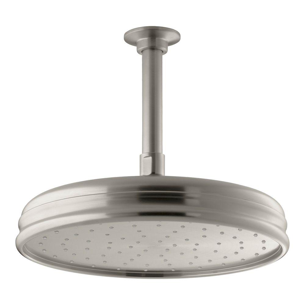 KOHLER 10-inch Traditional Round Rainhead Showerhead with Katalyst Spray Technology