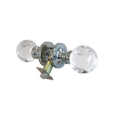 ABC Clear Chrome LED Privacy Door Knob