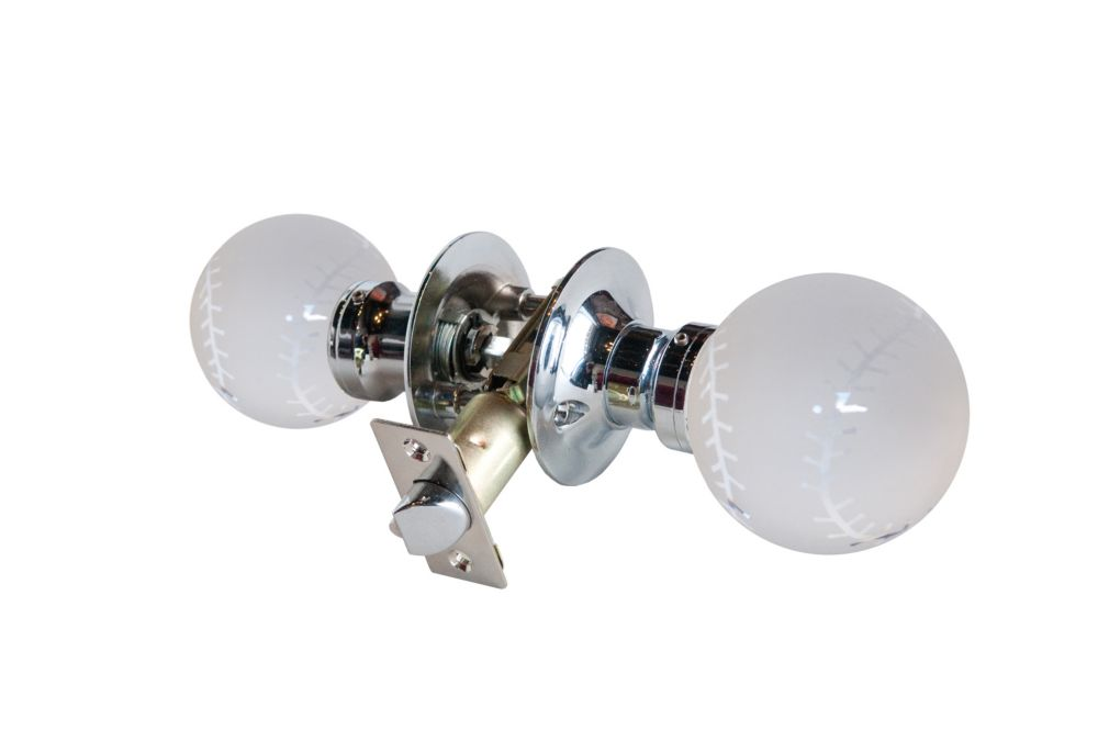 Baseball Chrome Passive LED Door Knob DL3660CPAS Canada Discount