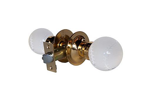 Krystal Touch Baseball Brass Passive LED Door Knob   The Home Depot ...