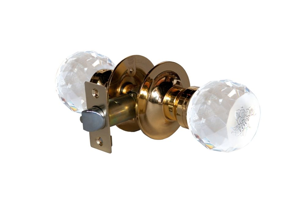 Love Rose Brass Passive LED Door Knob