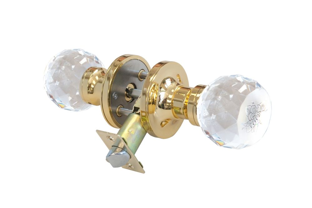 Love Rose Brass Privacy LED Door Knob