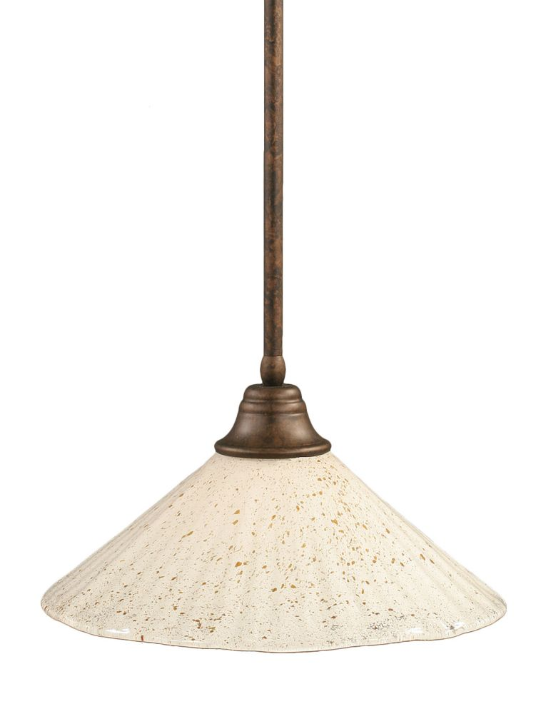 Concord 1 Light Ceiling Bronze Incandescent Pendant with a Gold Crystal Glass