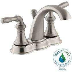 KOHLER Devonshire(R) centerset bathroom sink faucet with lever handles