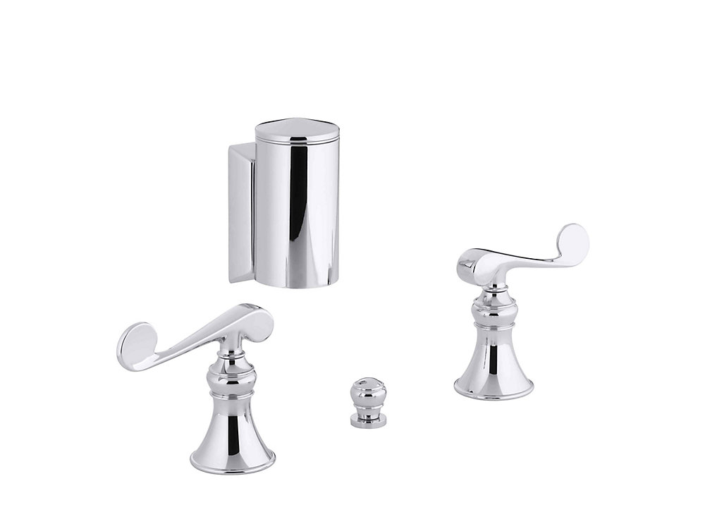 Revival Bidet Faucet with Below-The-Rim Swivel Spray and Scroll Lever Handles