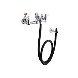 KOHLER Service Sink Faucet with Loose-Key Stops, Rubber Hose, Wall Hook and Lever Handles