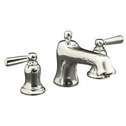 KOHLER Bancroft(R) bath faucet trim for deck-mount valve with diverter spout and metal lever handles