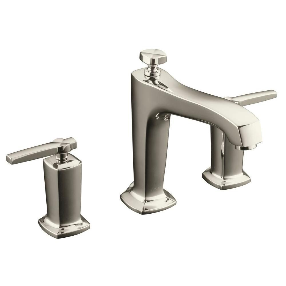 KOHLER Margaux Deck-Mount High-Flow Tub Faucet with Lever Handles
